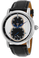 Lucien Piccard 40044-02S-RA Men's Infinity Black Genuine Leather Silver-Tone