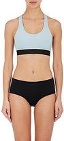 Rochelle Sara Women's Anna Neoprene Racerback Bikini Top-LIGHT BLUE