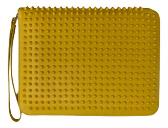 Christian Louboutin Yellow Leather Clutch bags