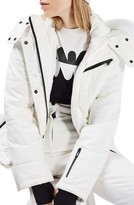 Topshop Women's Bowie Faux Fur Trim Ski Jacket