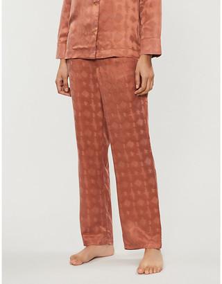 LOVE Stories Weekend abstract-pattern satin pyjama bottoms
