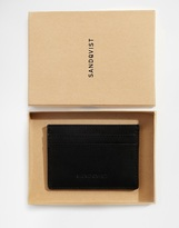 Sandqvist Buck Leather Card Holder - Black