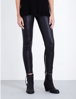 Unravel Skinny high-rise leather jeans