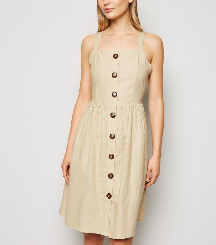 New Look Blue Vanilla Cross Back Dress
