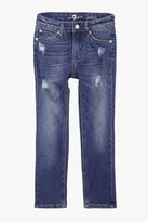 7 For All Mankind Boys 4-7 Paxtyn Skinniest Tapered 5-Pocket Stretch Denim Jeans In Shoreline