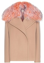 Emilio Pucci Virgin Wool And Cashmere Jacket With Fur Collar
