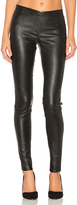 Alice + Olivia Front Zip Leather Legging