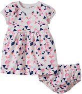 Petit Lem Origami Fish Dress & Diaper Cover (Baby) - Grey - 24 Months