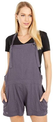 Hurley Bronte Beach Overalls (Thunder Grey) Women's Jumpsuit & Rompers One Piece