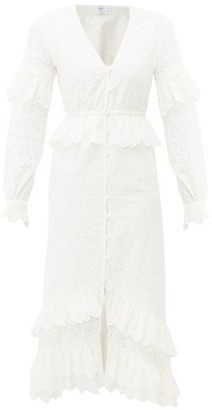 Sir - Amelie Ruffled Broiderie-anglaise Cotton Dress - Ivory