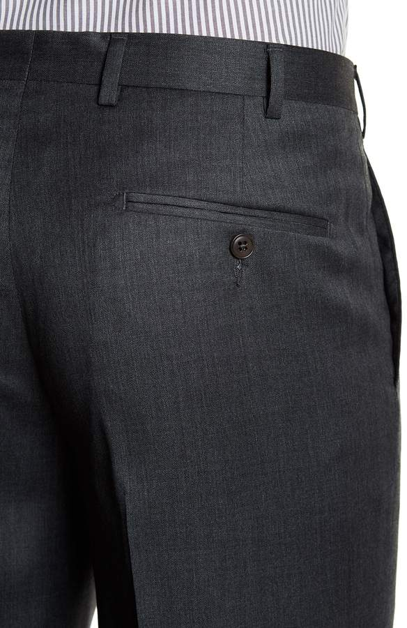 JB Britches Notch Lapel Two Button Solid Wool Suit