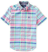 Ralph Lauren Little Boys 2T-7 Madras Plaid Short-Sleeve Oxford Shirt