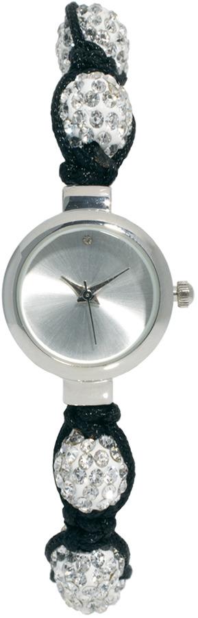 River Island Silver Encrusted Ball Watch