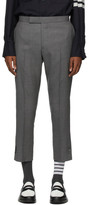 Thom Browne Grey Super 120s Vented Trousers