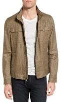John Varvatos Men's Hooded Linen Field Jacket