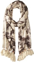 Michael Stars Rorschach Tie-Dye Wrap Scarves