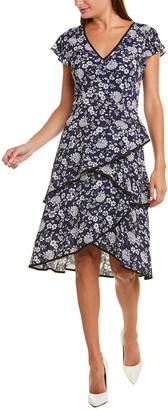 Adrianna Papell Ditsy Petunia Dress