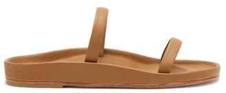 LAUREN MANOOGIAN Line Leather Sandals - Tan