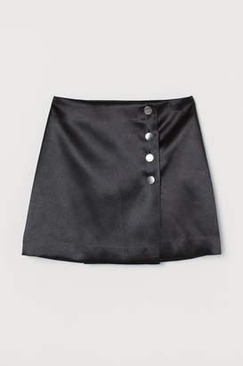 H&M Short Satin Skirt - Black