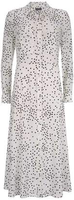 Mint Velvet Ivory Spot Midi Shirt Dress