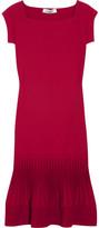 Valentino Ribbed-hem knit dress