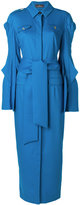 Capucci belted wrap dress - women - Silk/Polyester/Spandex/Elastane/Virgin Wool - 42