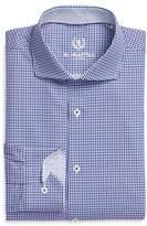 Bugatchi Men's Trim Fit Check Pattern Dress Shirt
