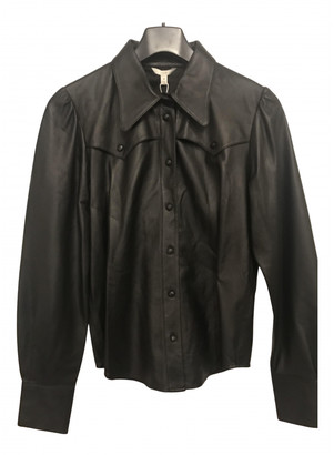 Joie Black Leather Tops