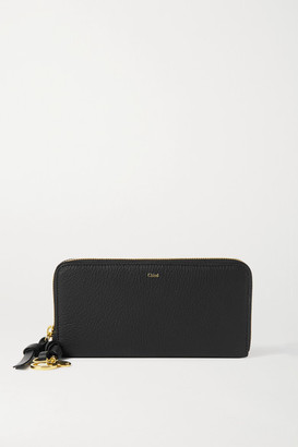 Chloé Alphabet Textured-leather Wallet - Black