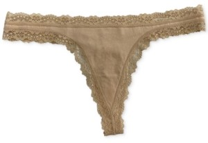 Jenni Women's Lace-Trim Thong, Created for Macy's