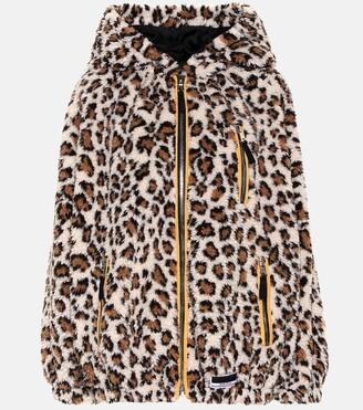 Miu Miu Leopard print fleece hoodie