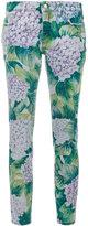 Dolce & Gabbana hydrangea print skinny jeans