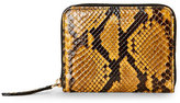 Mulberry Canary Python Small Zip-Around Wallet