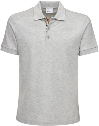 Burberry Cotton Pique Polo W/ Heritage Detail