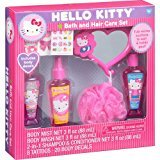 Hello Kitty Bath and Hair Care Gift Set, 12 pc - Mirror * Body Mist * Body Wash * 2in1 Shampoo & Conditioner * Bath Pouf * Tattoos & Body Decals!