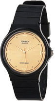 Casio MQ-76-9A Resin & Gold Analog Watch