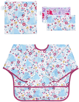 Bumkins Disney Princess Sleeved Bib & Reusable Snack Bag Set