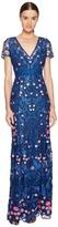 Marchesa A-Line Guipure Lace Gown Women's Dress