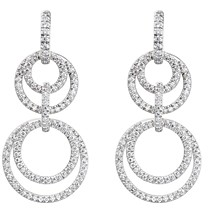 Gumuchian 18K White Gold Moon Phase Diamond Convertible Drop Earrings