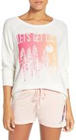 Junk Food Clothing &Let&s Get Lost& Graphic Hacci Sweatshirt