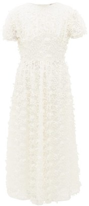 Cecilie Bahnsen Tai Floral-embroidered Tulle Dress - Ivory