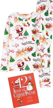 Hatley Long Sleeve Night Before Christmas Pajamas & Book Set