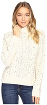 Brigitte Bailey Adara Cable Knit Sweater with Bead Detail