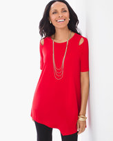 Chico's Peek-A-Boo Cold-Shoulder Top