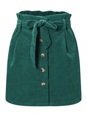 Goodnight Macaroon 'Bobo' Corduroy Belted Paper Skirt (4 Colors)