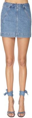Philosophy di Lorenzo Serafini Cotton Denim Mini Skirt