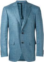 Canali woven blazer - men - Silk/Linen/Flax/Cupro/Wool - 54