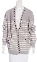 Thomas Wylde Hardware-Embellished Boyfriend Cardigan w/ Tags