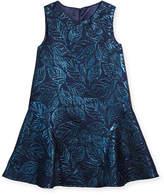 Oscar de la Renta Jacquard Sleeveless Drop-Waist Dress, Size 2-14