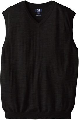 Cutter & Buck Men's Big-Tall Douglas V-Neck Sweater Vest